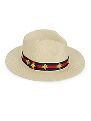 Vince Camuto Bee Preppy Panama Hat Natural