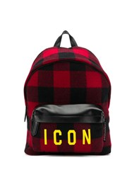 Dsquared2 Plaid Icon Backpack Black