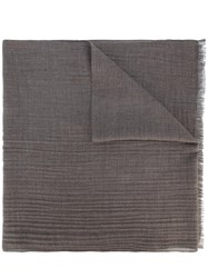 Loro Piana Frayed Edge Scarf Grey