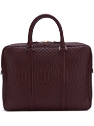 Paul Smith Embossed Detailing Briefcase Red
