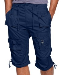 Sean John Shorts Big And Tall Classic Flight Cargo Shorts Navy