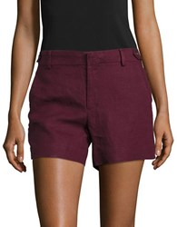 Lord And Taylor Linen Shorts Purple