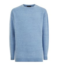 Burberry Runway Square Neck Sweater Male Light Blue