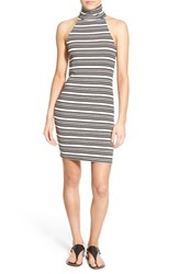 Women's Painted Threads Stripe Turtleneck Body Con Dress