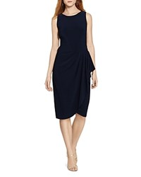 Lauren Ralph Lauren Draped Jersey Dress Lighthouse Navy