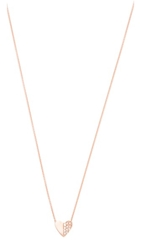 Ariel Gordon Jewelry Close To My Heart Necklace Rose Gold Clear