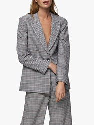 Selected Femme Stella Check Blazer Black Multi