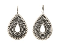 Lucky Brand Blue Moon Tribal Tear Drop Earrings Silver Earring