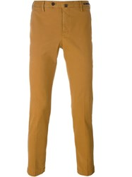 Pt01 Slim Fit Chinos Yellow And Orange