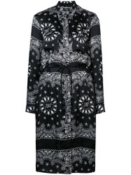 Amiri Bandana Print Shirt Dress Black