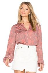 House Of Harlow X Revolve Seymore Blouse Pink