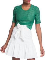 Plenty By Tracy Reese Short Sleeve Cropped Top Palm