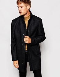 Esprit Overcoat With High Neck Charcoal
