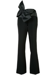 Sachin Babi And Side Fastened Flared Trousers Black