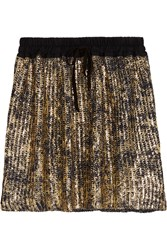 Vivienne Westwood Metallic Coated Cotton Mini Skirt Black