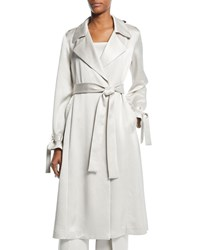 Alexis Jocasta Belted Trench Coat Off White