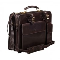 Maxwell Scott Bags Brown Leather Briefcase For Men