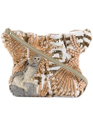 Jamin Puech Beaded Shoulder Bag Nude And Neutrals