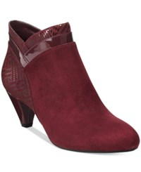 Karen Scott Cahleb Dress Booties Only At Macy's Women's Shoes Wine