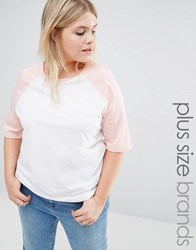 Alice And You Raglan Sleeve Jersey Tshirt Blush Multi