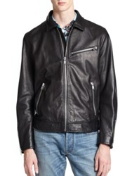 Marc By Marc Jacobs Lambskin Leather Jacket Black