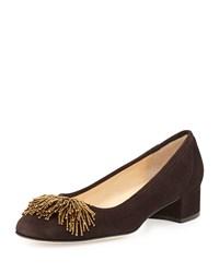 Flynn Beaded Suede Pump Moro Brown Sesto Meucci