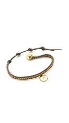 Chan Luu Love Charm Bracelet Yellow Gold Coconut