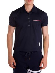 Thom Browne Solid Pique Polo