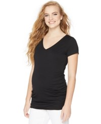 Motherhood Maternity V Neck Ruched Tee
