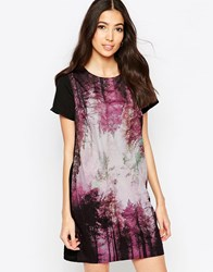 Sugarhill Boutique Amelia Woodland Tunic Dress Black Multi