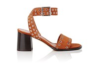 Derek Lam Women's Jacquix Embellished Suede Sandals Tan Gold