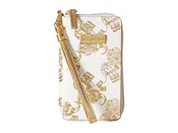 Lilly Pulitzer Tiki Palm Iphone 6 Gold Metallic Treasure Trunk Cell Phone Case White