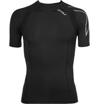 2Xu Tr2 Mesh Panelled Compression Running T Shirt Black