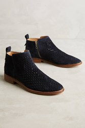 Anthropologie Hudson Revelin Perforated Boots Navy