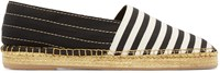 Marc Jacobs Black And White Striped Espadrilles