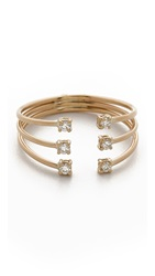Jennie Kwon Designs Diamond Cage Cuff Ring Gold Clear