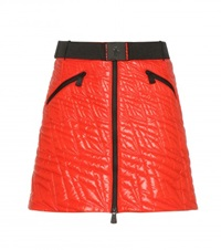 Moncler Grenoble Quilted Miniskirt Red