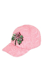 Shourouk Metallic Jacquard Cap With Palm Jewel