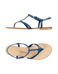 Carlo Pazolini Couture Thong Sandals Dark Blue