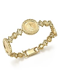 Bloomingdale's 14K Yellow Gold Three Coin Bracelet 100 Exclusive