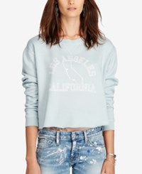 Denim And Supply Ralph Lauren Cropped Fleece Sweatshirt Graphic