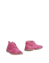 Le Crown Ankle Boots Fuchsia