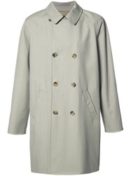 A.P.C. Double Breasted Loose Coat Grey