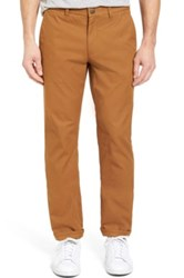 Bonobos Straight Fit Washed Chinos Brown