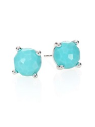 Ippolita Rock Candy Turquoise And Sterling Silver Stud Earrings Silver Blue