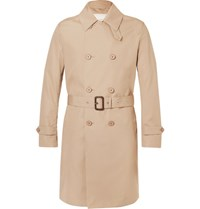 Mackintosh Slim Fit Belted Bonded Cotton Raincoat Beige
