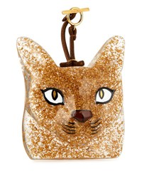Loewe Cat Face Charm For Handbag Orange Green
