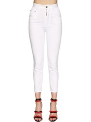 Dsquared Twiggy High Waist Stretch Jeans White