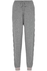 Chinti And Parker Wool Cashmere Blend Track Pants Gray