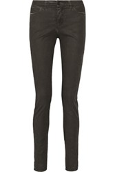 Maison Martin Margiela Mm6 Mid Rise Skinny Jeans Charcoal
